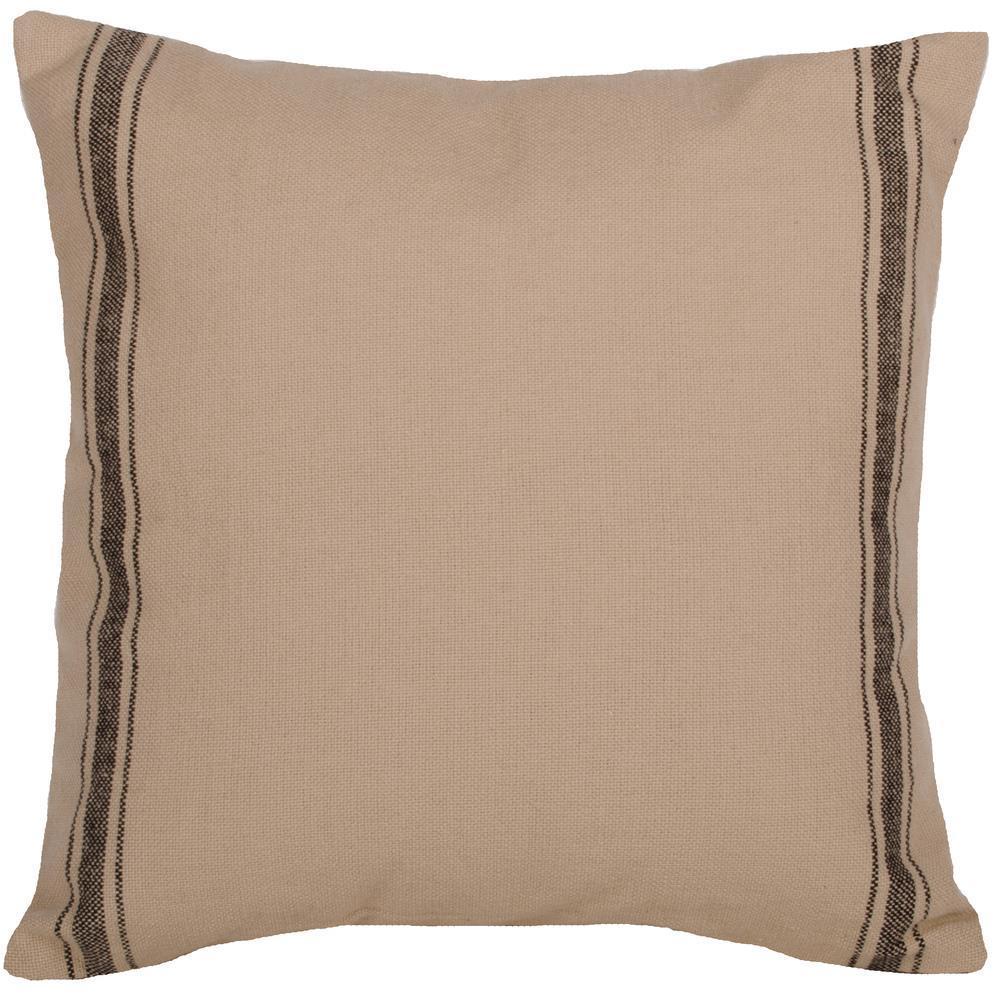 Grain Sack Striped Pillow in black by Raghu